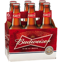 BUDWEISER BEER BTL       6x355ML