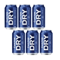 CARLTON DRY CANS         6x375ML