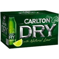 CARLTON DRY FUS LIME    24x355ML