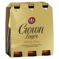 CARLTON CROWN LAGER BTL    6x375ML