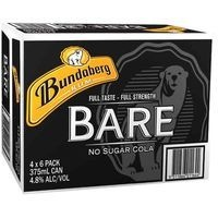 BUNDY BARE & NS COLA  24x375ML