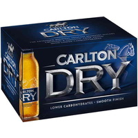 CARLTON DRY Stubbies               24x330mL