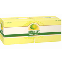 SOMERSBY CDR PEAR 10P    375ML