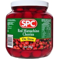 RED MARASCHINO CHERRIES STEM ON 2KG