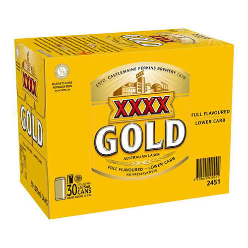 XXXX GOLD CAN         30PK 375ML
