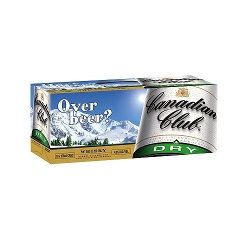 CANADIAN CLUB & DRY 10PK CANS 375ML
